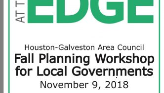"ART PERTILE, HGAC, FRIDAY, NOVEMBER 9, 2018, ""PLANNING AT THE EDGE"""